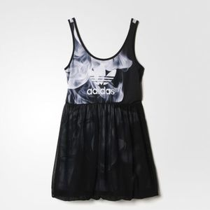 Adidas Women's Rita Ora White Smoke Tank Dress